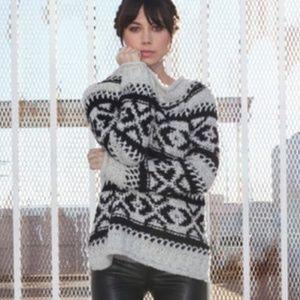 Free People Silver Reed Fair Isle Sweater